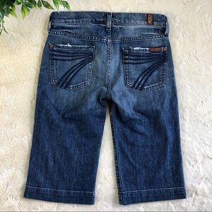 Seven for all mankind dojo Bermuda jean shorts 25